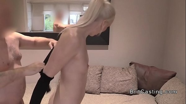 Blonde, Casting anal, Slim anal, Anal casting