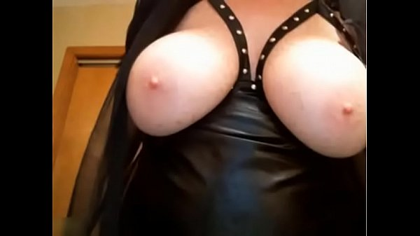 Leather, Huge tits mature