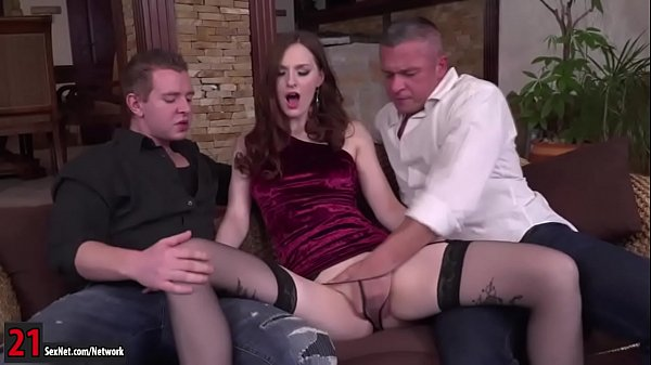 Double anal, Russian anal, Redhead