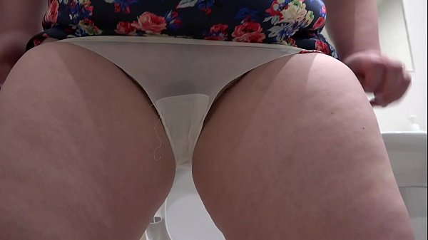 Pissing, Panty, White panties, Milf big ass