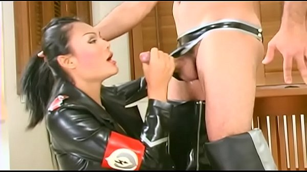 Shemales, Leather, Shemale cum, Leather anal
