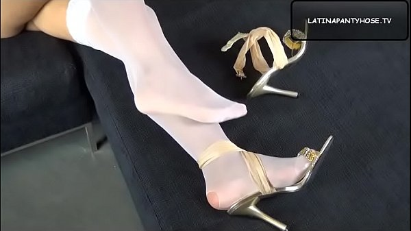 Nylon, Stockings, Nylons, Shoes, Nylon feet, Shoe